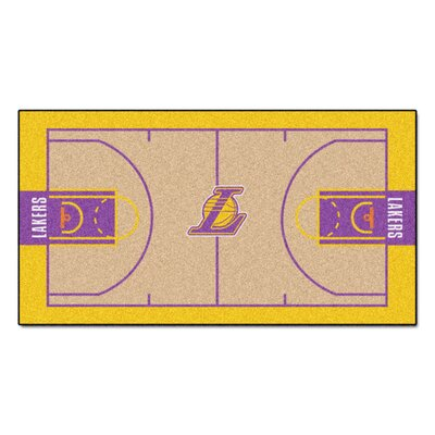 NBA - Los Angeles Lakers NBA Court Runner Doormat Rug Size: 25.5 x 46