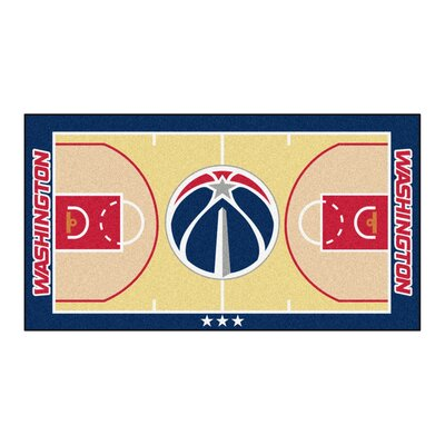 NBA - Washington Wizards NBA Court Runner Doormat Rug Size: 25.5 x 46