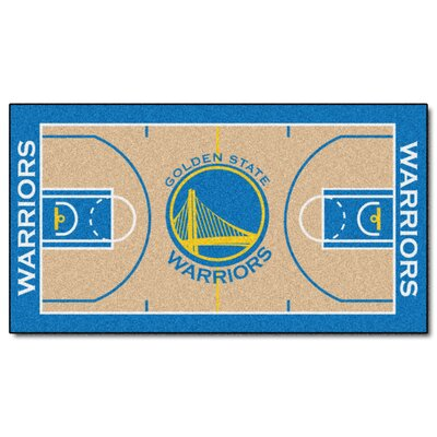 NBA - Golden State Warriors NBA Court Runner Doormat Rug Size: 25.5 x 46