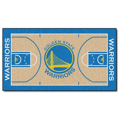 NBA - Golden State Warriors NBA Court Runner Doormat Mat Size: 2 x 38