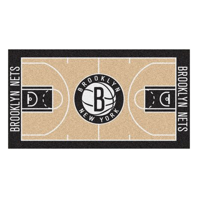 NBA - Brooklyn Nets NBA Court Runner Doormat Rug Size: 25.5 x 46