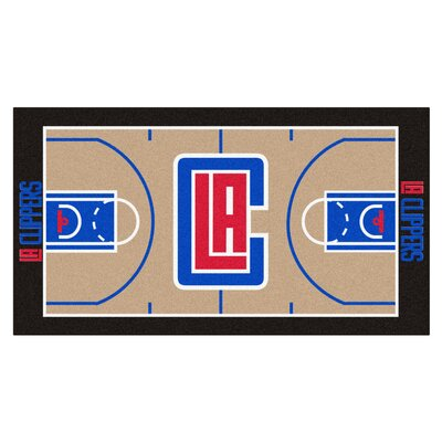 NBA - Los Angeles Clippers NBA Court Runner Doormat Rug Size: 2 x 38