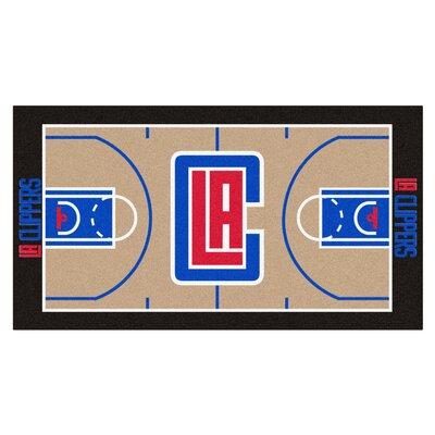 NBA - Los Angeles Clippers NBA Court Runner Doormat Mat Size: 2 x 38