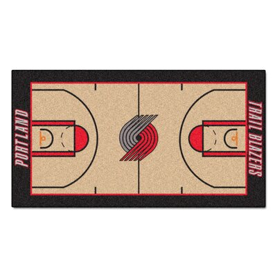 NBA - Portland Trail Blazers NBA Court Runner Doormat Rug Size: 25.5 x 46