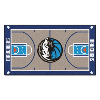 NBA - Dallas Mavericks NBA Court Runner Doormat Mat Size: 2 x 38
