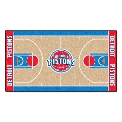 NBA - Detroit Pistons NBA Court Runner Doormat Rug Size: 2 x 38