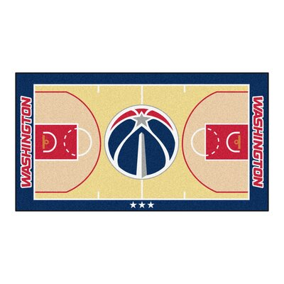 NBA - Washington Wizards NBA Court Runner Doormat Rug Size: 2 x 38