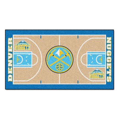 NBA - Denver Nuggets NBA Court Runner Doormat Rug Size: 2 x 38