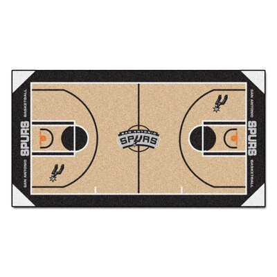 NBA - San Antonio Spurs NBA Court Runner Doormat Rug Size: 25.5 x 46