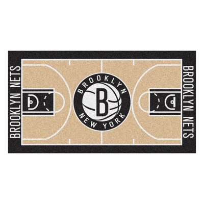 NBA - Brooklyn Nets NBA Court Runner Doormat Rug Size: 2 x 38