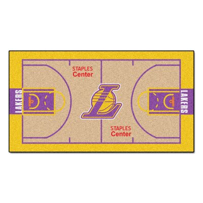 NBA - Los Angeles Lakers NBA Court Runner Doormat Mat Size: 2 x 38