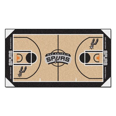 NBA - San Antonio Spurs NBA Court Runner Doormat Mat Size: 2 x 38