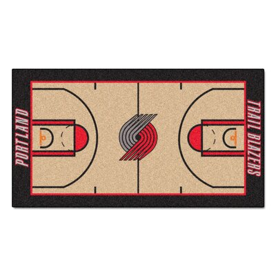 NBA - Portland Trail Blazers NBA Court Runner Doormat Rug Size: 2 x 38