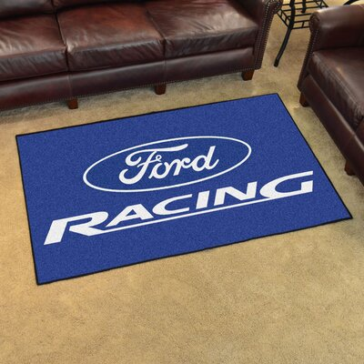 Ford - Ford Racing Tailgater Mat Rug Size: 4 x 6