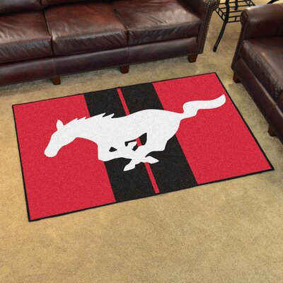 Ford - Mustang Horse Tailgater Mat Rug Size: 4 x 6