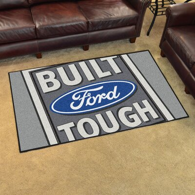 Ford - Built Ford Tough Tailgater Mat Rug Size: 4 x 6