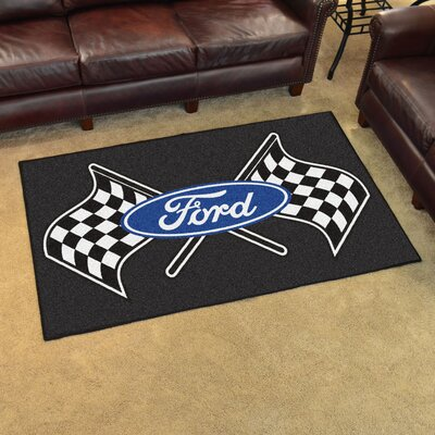 Ford - Ford Flags Tailgater Mat Rug Size: 5 x 8