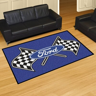 Ford - Ford Flags Tailgater Mat Rug Size: 4 x 6