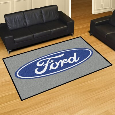 Ford - Ford Oval Tailgater Mat Rug Size: 5 x 8