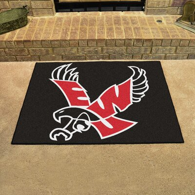 NCAA Eastern Washington University Football Mat Mat Size: Rectangle 17 x 2 6