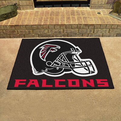 NFL - Atlanta Falcons Doormat Color: Black, Rug Size: 18 x 26
