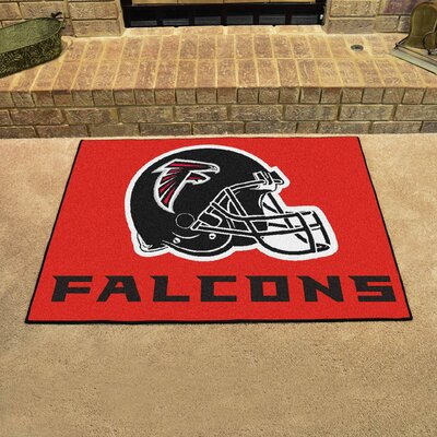 NFL - Atlanta Falcons Doormat Rug Size: 5 x 6, Color: Red