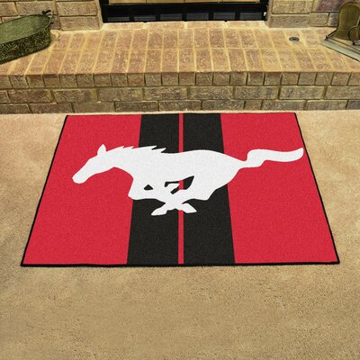 Ford - Mustang Horse All Star Mat Color: Red