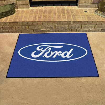 Ford - Ford Oval All Star Mat Color: Blue