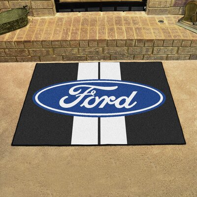 Ford - Ford Oval with Stripes All Star Mat Color: Black