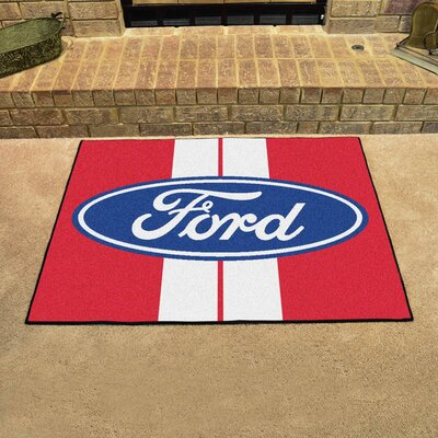 Ford - Ford Oval with Stripes All Star Mat Color: Red