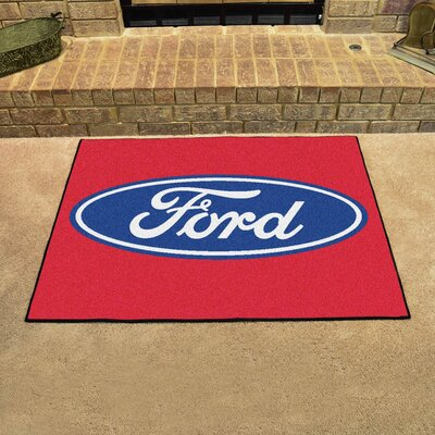 Ford - Ford Oval All Star Mat Color: Red