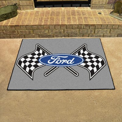 Ford - Ford Flags All Star Mat Color: Gray