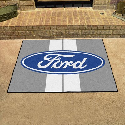 Ford - Ford Oval with Stripes All Star Mat Color: Gray