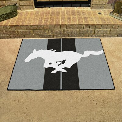 Ford - Mustang Horse All Star Mat Color: Gray