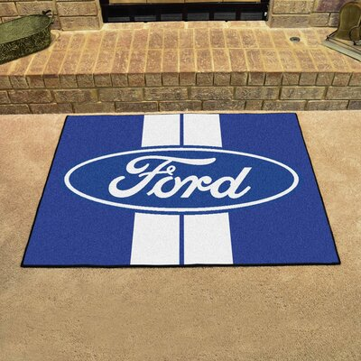 Ford - Ford Oval with Stripes All Star Mat Color: Blue