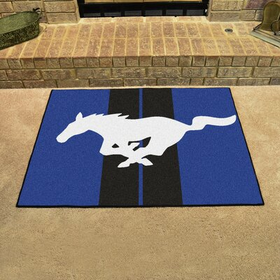 Ford - Mustang Horse All Star Mat Color: Blue