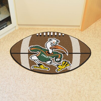 NCAA University of Miami Football Mat