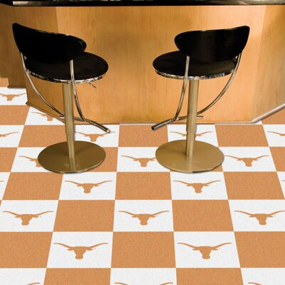 Collegiate 18 x 18 Carpet Tiles in Multi-Colored NCAA Team: Texas