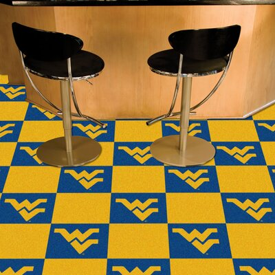 Collegiate 18 x 18 Carpet Tiles in Multi-Colored NCAA Team: West Virginia