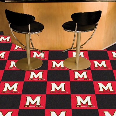Collegiate 18 x 18 Carpet Tiles in Multi-Colored NCAA Team: Maryland