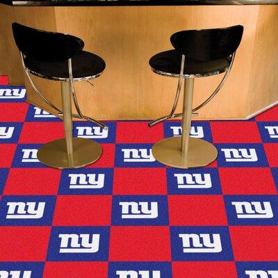 NFL Team 18 x 18 Carpet Tile NFL Team: New York Giants