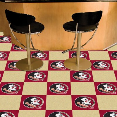 Collegiate 18 x 18 Carpet Tiles in Multi-Colored NCAA Team: Florida State - Seminole