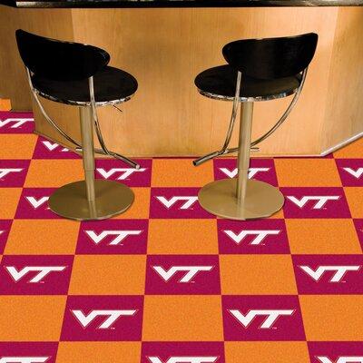 Collegiate 18 x 18 Carpet Tiles in Multi-Colored NCAA Team: Virginia Tech
