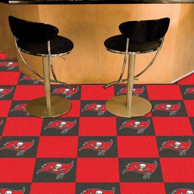 NFL Team 18 x 18 Carpet Tile NFL Team: Tampa Bay Buccaneers