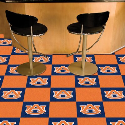 Collegiate 18 x 18 Carpet Tiles in Multi-Colored NCAA Team: Auburn