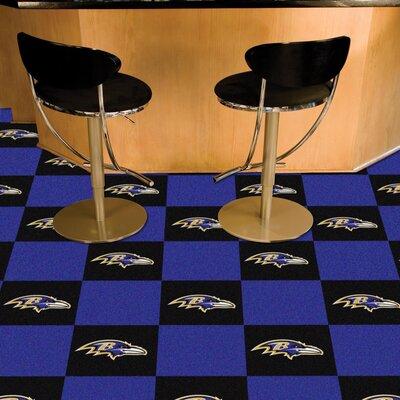 NFL Team 18 x 18 Carpet Tile NFL Team: Baltimore Ravens