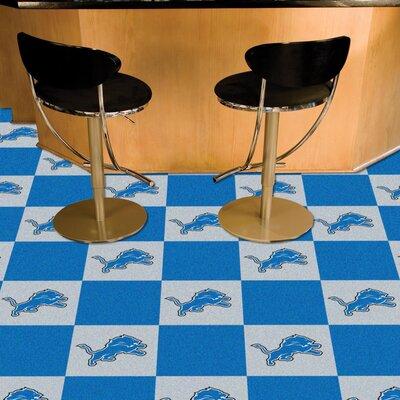 NFL Team 18 x 18 Carpet Tile NFL Team: Detroit Lions