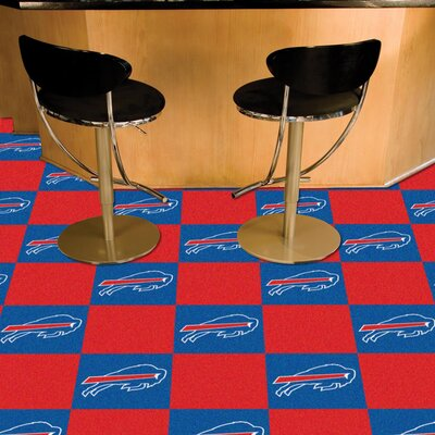NFL Team 18 x 18 Carpet Tile NFL Team: Buffalo Bills