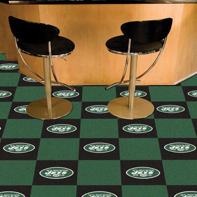 NFL Team 18 x 18 Carpet Tile NFL Team: New York Jets