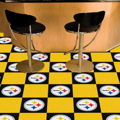 NFL Team 18 x 18 Carpet Tile NFL Team: Pittsburgh Steelers